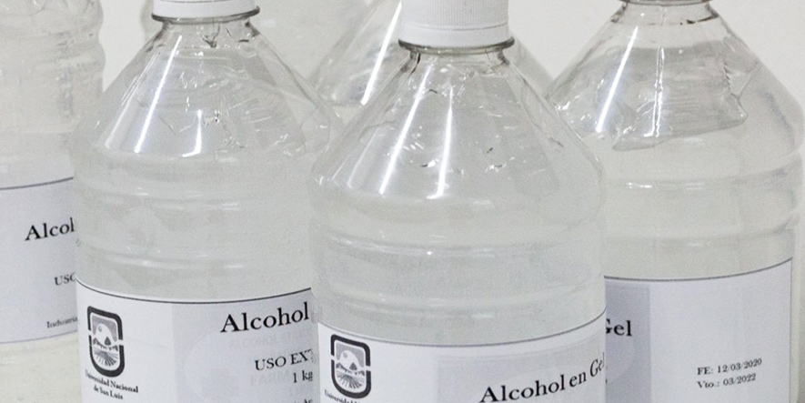 Dos Universidades Nacionales producirán alcohol en gel